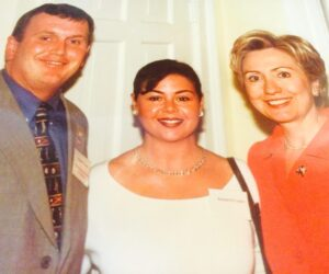 With HRC at a DSCC event  many years ago