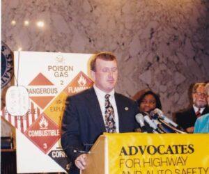 Kevin headlining a press conference on HAZMAT transportation safety